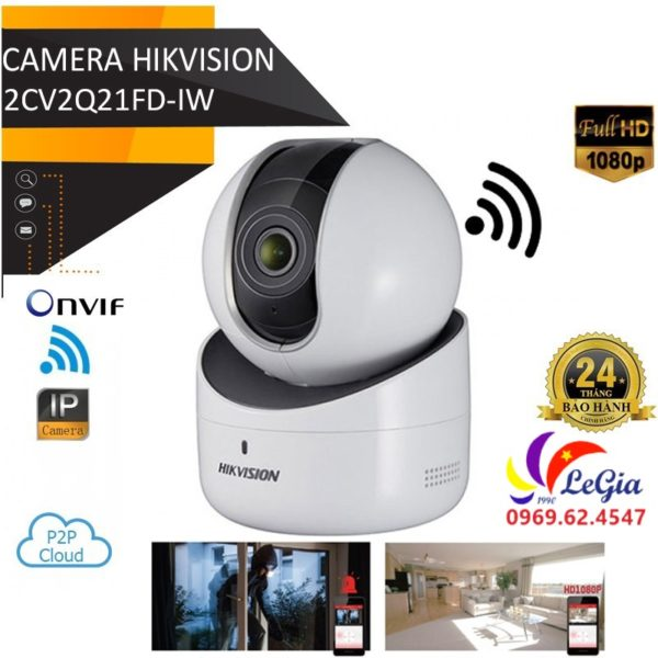 Camera IP DS-2CV2Q21FD-IW 2MP WIFI XOAY 4 CHIỀU